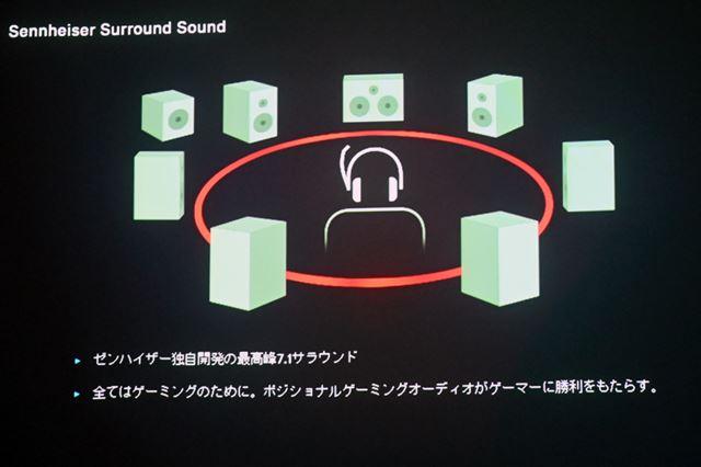 専用ソフトウェア経由で独自の7.1chサラウンドサウンドにも対応
