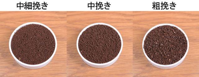 プロペラ式で挽いた粉と比べ、均一性がぐっと高くなります