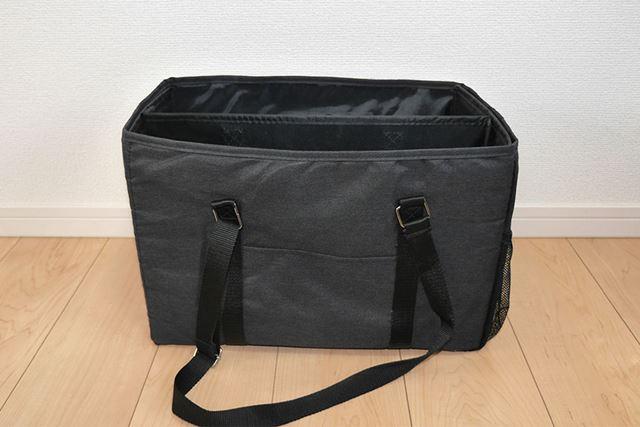 自立するしっかりとしたバッグに! この大きさでも840gしかないので、とても軽いです