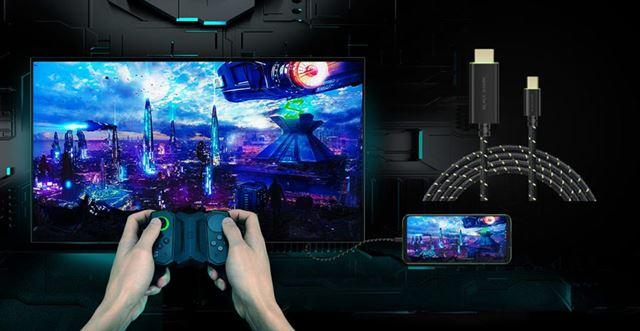 Black Shark2用の周辺機器はすべて利用可能。コントロールパッドやHDMIケーブルなどが用意されている