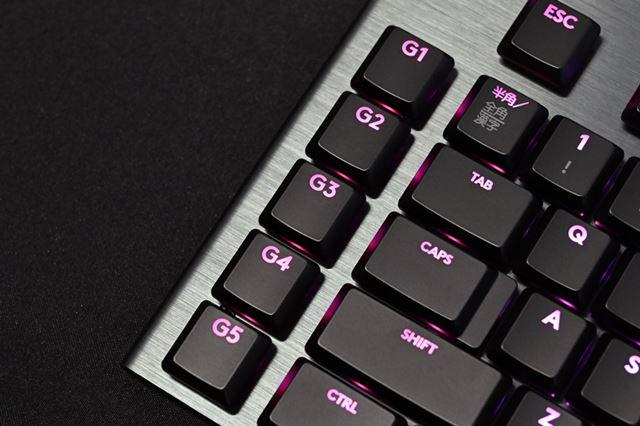 キーボードの左端には5つのGキーを用意