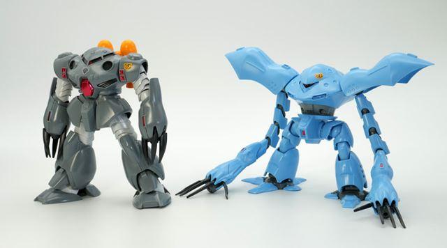 左が「HGUC ズゴックE(エクスペリメント)」、右が「HGUC ハイゴッグ」で、2体とも2003年に発売されました
