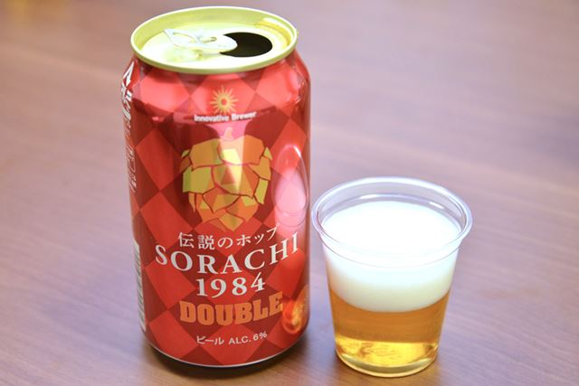 「Innovative Brewer SORACHI1984 DOUBLE」。アルコール度数は、同ブランド中最高の6%
