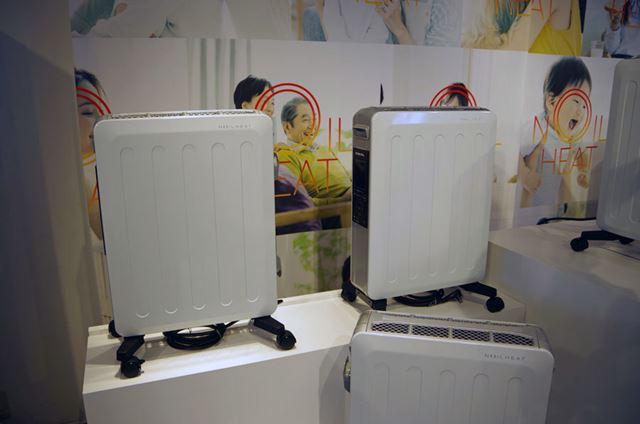 下位モデルの「DHS-1219」(暖房出力1200〜300W:8〜10畳)。カラーはホワイトシルバー