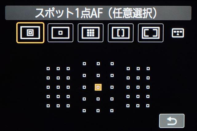 光学ファインダーAFはオールクロス45点AFセンサーで、スポット1点AFが追加になった