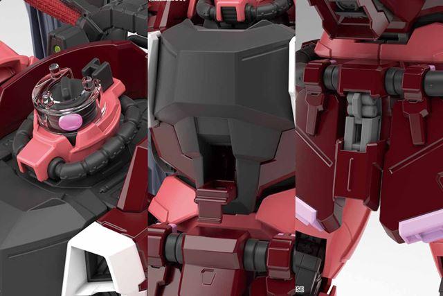 各部には動くギミックを搭載。左右のモノアイや胸部のハッチが可動する
