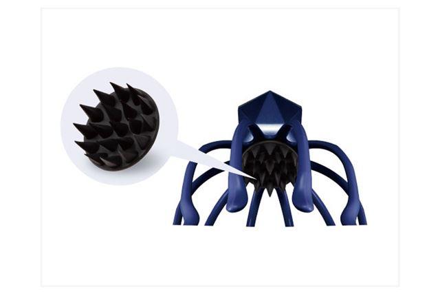 頭皮を刺激するスカルプケアブラシを新搭載。シャンプーしながらスカルプケアが可能に
