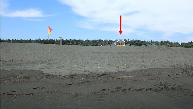 試泳の際に沖から陸側を見て、目印になるものを見つけておく