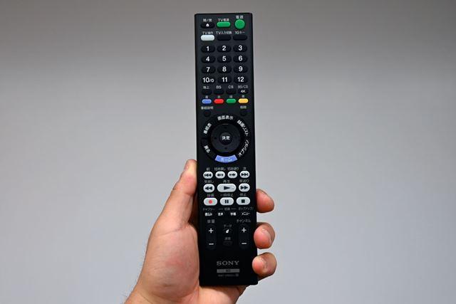 FBシリーズのリモコン。放送波切り替えボタンに4K放送が新設されている