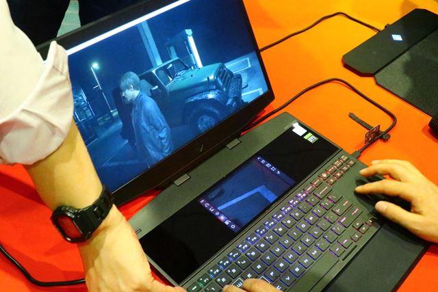 リアルタイムスクリーンミラーリングの例
