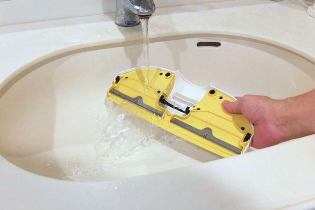 掃除が終わったら毎回水で洗い流しましょう