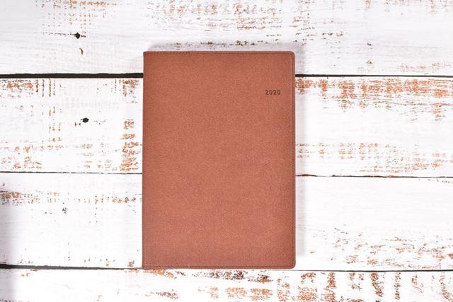 「1月始まり Biz GRID手帳 A5方眼バーチカル」の「マロンブラウン」(品番:N118)