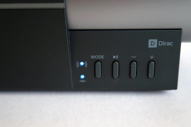 前面のMODEボタンで音響効果の組み合わせを切り替える