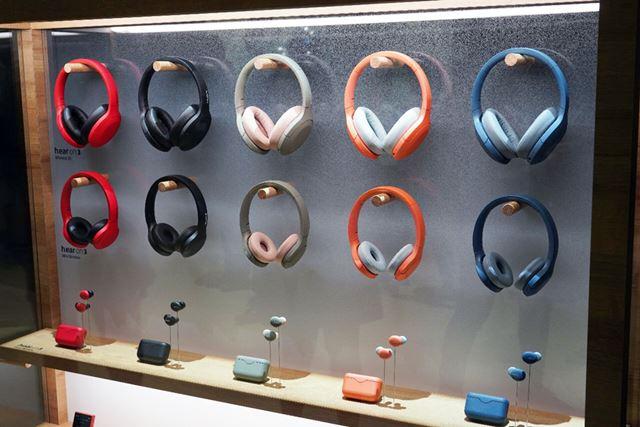 ソニーの新h.earシリーズ。同時に発表されたウォークマンAシリーズとカラーが揃えられている