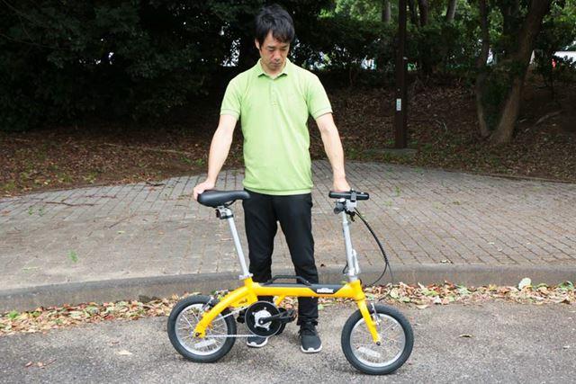 サイズは120(長さ)×44(幅)×61(高さ)cmで、適応身長は140cm〜となっている。車重は13.2kgだ
