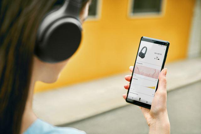 専用アプリ「Headphones Connect」を使った重低音調整機能も搭載