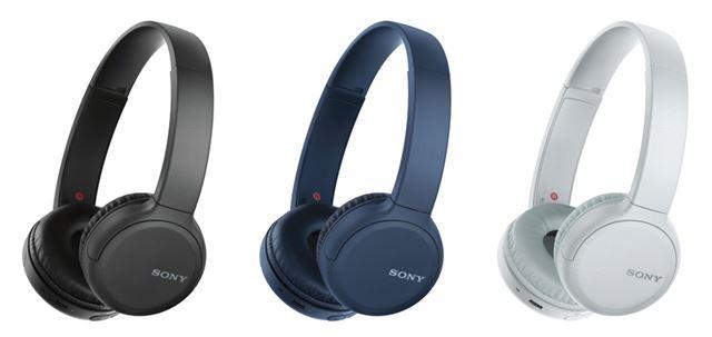 ソニー「WH-CH510」。カラバリは、ブラック/ブルー/ホワイトの3色