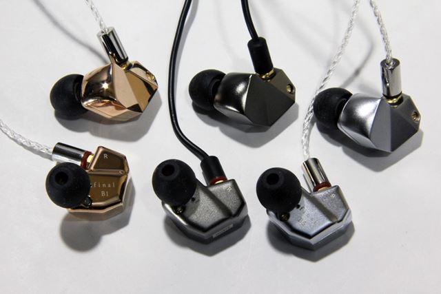 finalでは珍しいイヤーモニター型のデザインを採用するBシリーズ。見た目はmakeシリーズそっくりだ