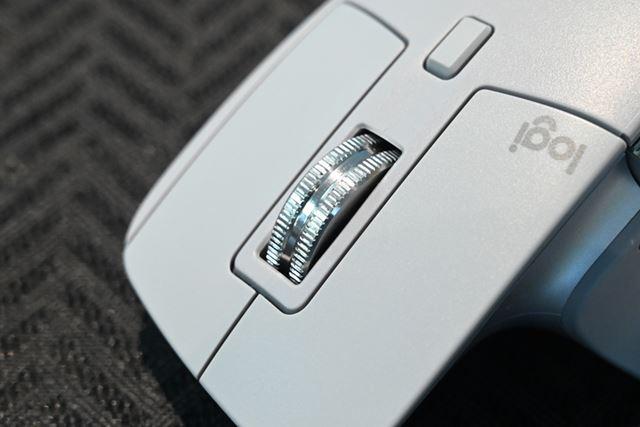 MX MASTER 3には独自開発したマウスホイールを新たに搭載