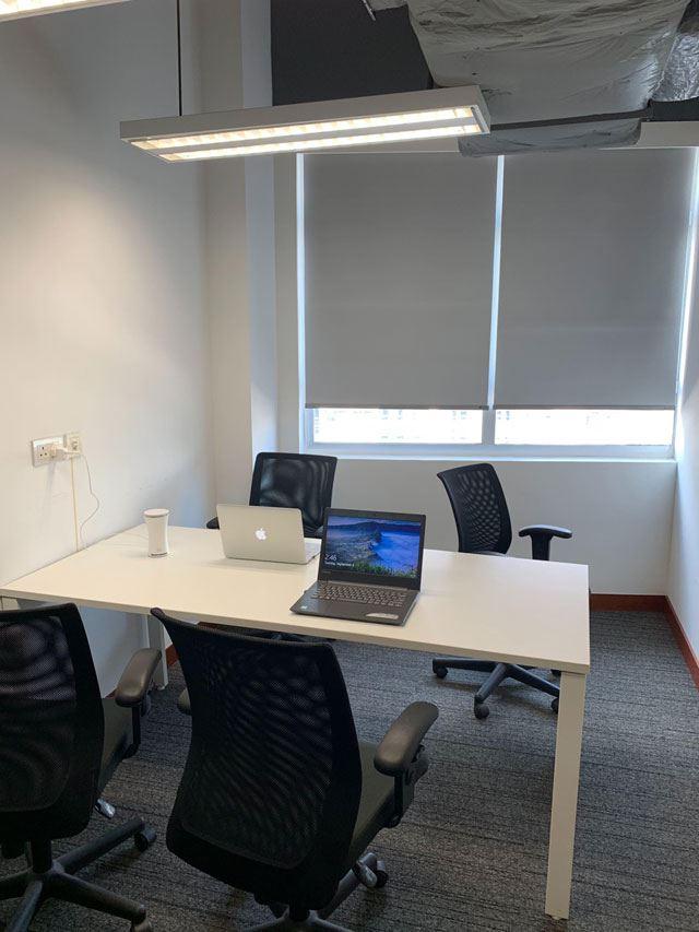 測定に利用したuHooを設置したのは、日本から2,800km離れた香港のオフィスの様子