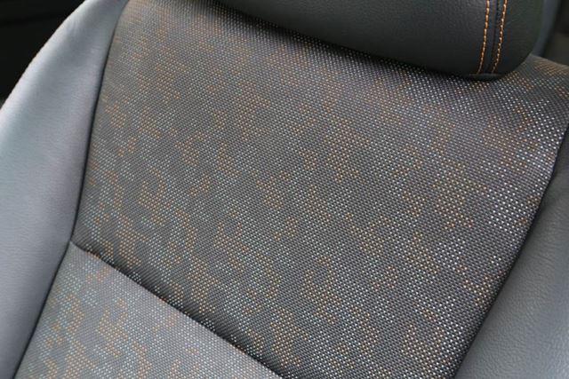 ホンダ「フリードクロスター」では、デジタルパターンのシートが採用されている