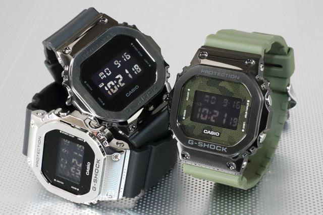 中央が「GM-5600B-1JF」で、右が「GM-5600B-3JF」。公式サイト価格は各26,420円(税込)