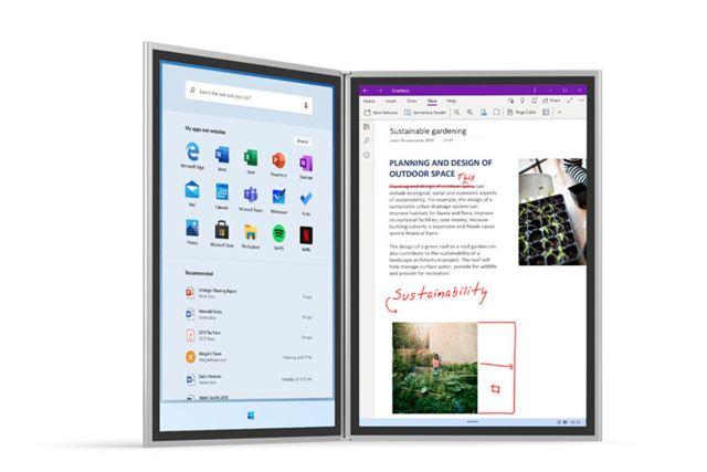 OSは2画面用のWindows 10X