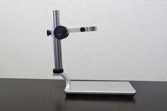 USB顕微鏡用のスタンドと
