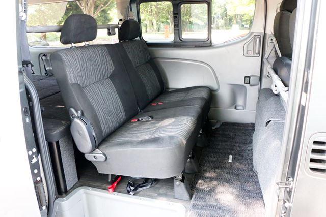 ベッドシステムは荷室しか使わないので、乗車人数5人分の座席はそのまま利用できる