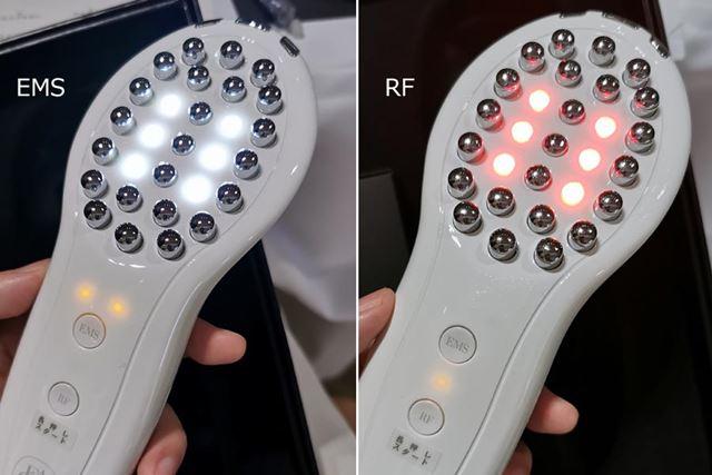 「EMS」と「RF」を合わせて使用している時は、2つの機能が同時ではなく、15秒ごとに交互に繰り返されます
