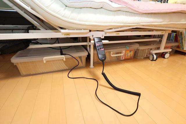 ベッド下のスペースの有効利用もできますよ