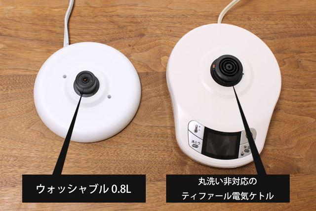 電極部の形状に合わせて、台座側の形状にもこんな感じの違いがあります