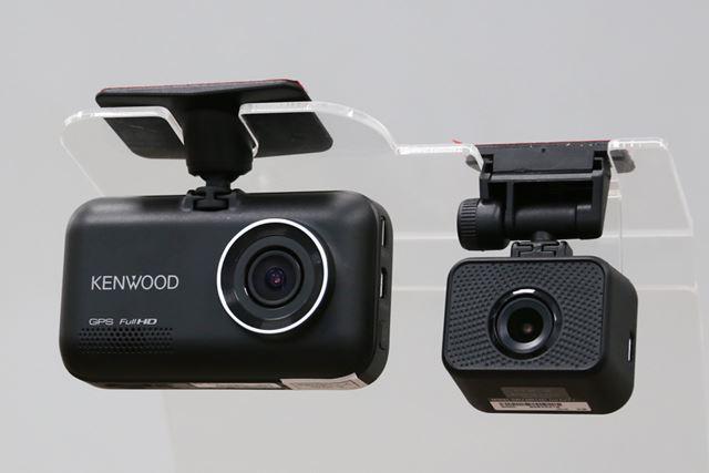 「DRV-MR745」のフロントカメラ(左)とリアカメラ(右)