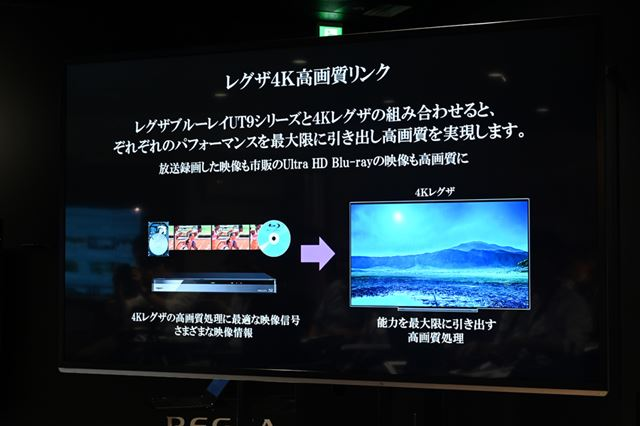 4Kレグザとの画質連携機能「レグザ4K高画質リンク」