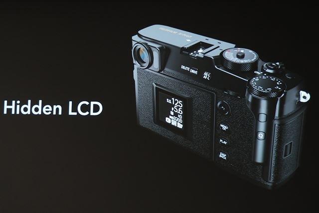 液晶が裏側にあるためモニターを閉じると、モニター非搭載のデジタルカメラのようになる