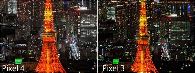 左が「Pixel 4」の最大ズーム(8倍)、右が「Pixel 3」の最大ズーム(推定7倍)
