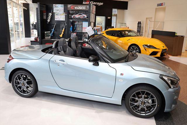 ダイハツ以外に、トヨタのスポーツカーの拠点「GR Garage」でも販売されている「コペンGRスポーツ」