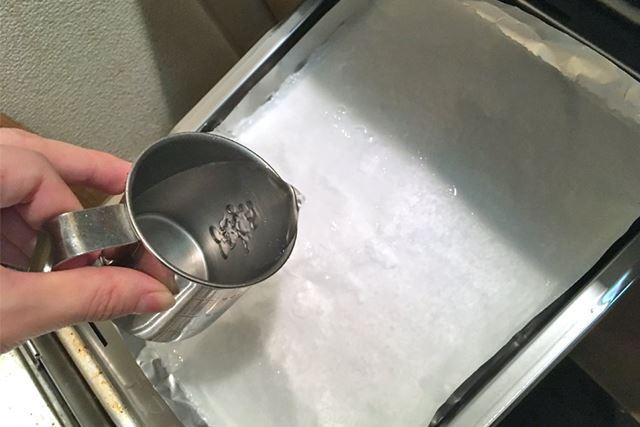 お水を全体にまんべんなく注ぎます