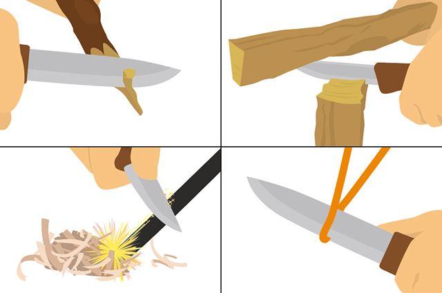 食材を切る以外にも、さまざまな用途に使えるのがアウトドアナイフの特徴