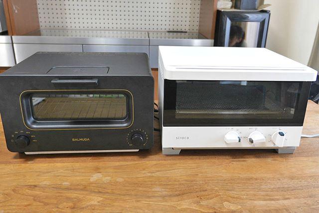 ……というわけで、バルミューダと、一般的なトースターの2台を用意しました