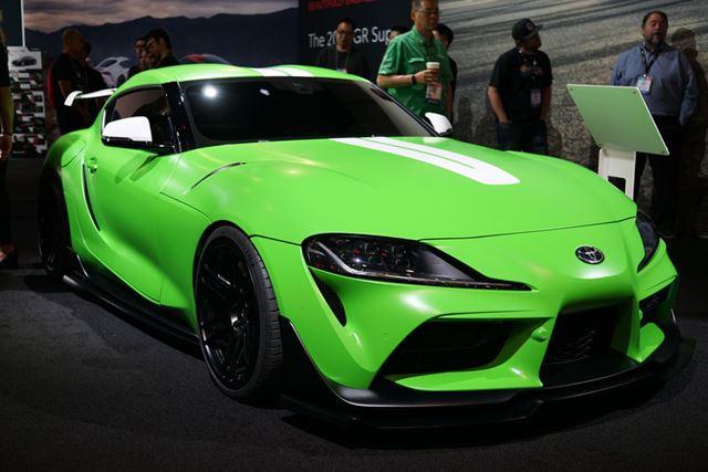 ワサビ色のあざやかなグリーンカラーが特徴的な「Toyota GR Supra Wasabi Concept」