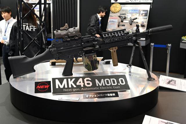 12月12日発売予定の次世代電動ガン「Mk46 Mod.0」。価格は148,000円(税別)