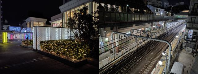 「夜景」モードを使えば、夜でも明るい写真が撮れる