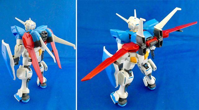 大気圏用パックは可動して、翼の展開が可能