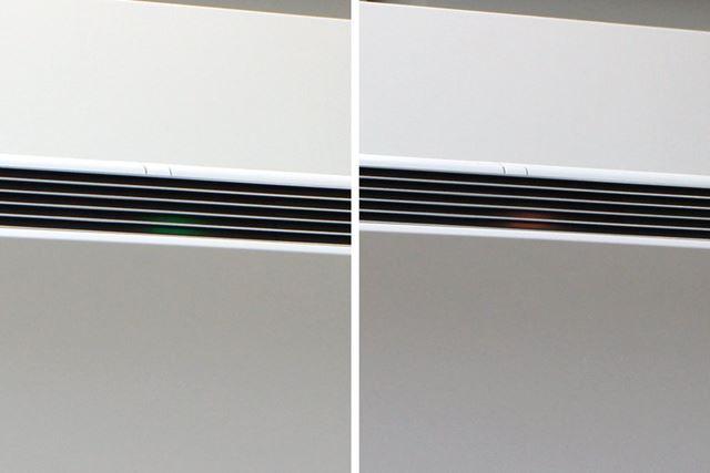 本体フロントのライトの色で、室内の汚れ状態を視覚的に教えてくれます