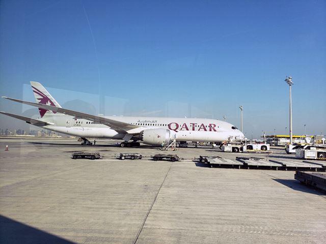 今回搭乗したのはカタール航空のエコノミークラスのフライト