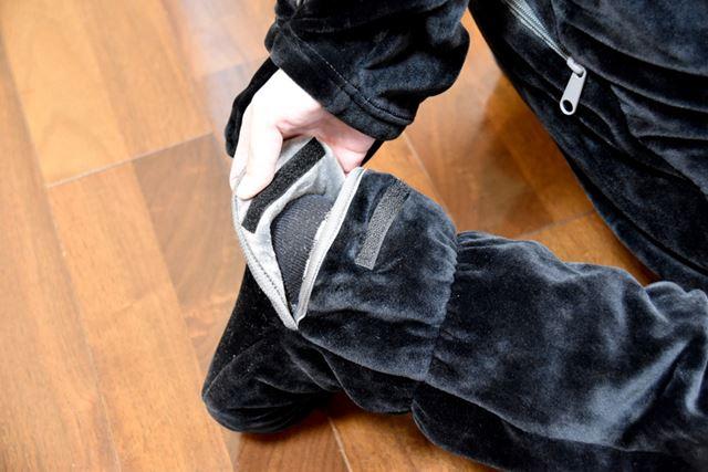足袋は、かかとに面ファスナーがついている