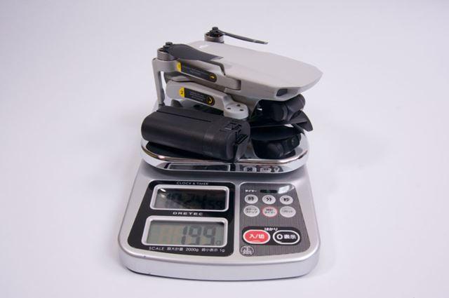 バッテリー込みの実測重量はピッタリ199g