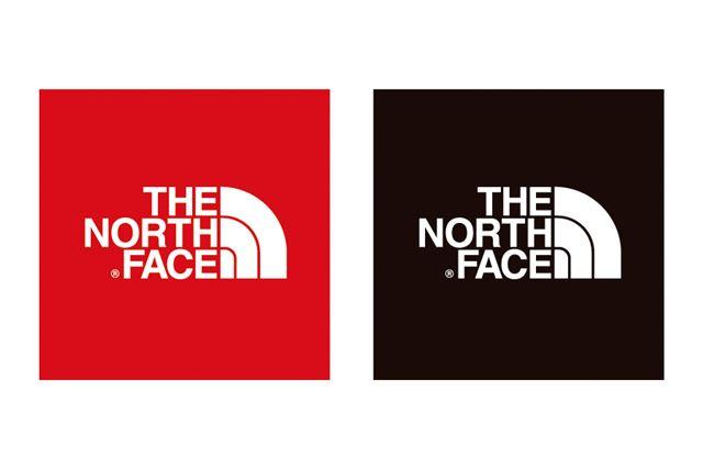 大きなスクエア型にブランドロゴが入った「TNFステッカー」。カラーはレッドとブラックを用意