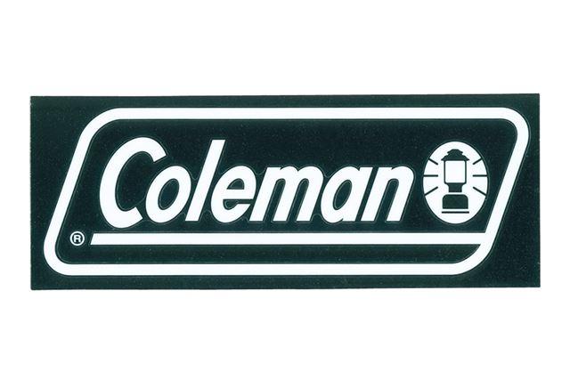 UV加工が施され、「Coleman」の文字が映える「オフィシャルステッカー/S」